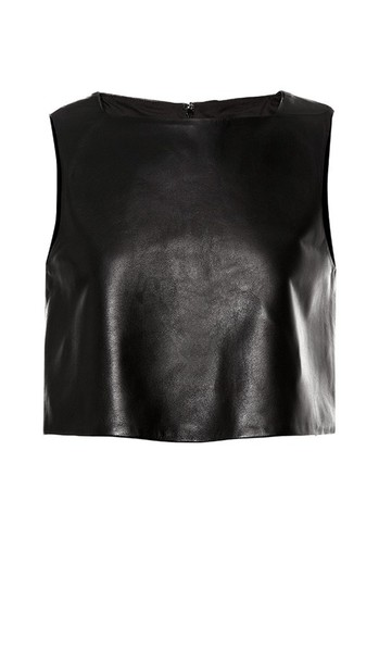 top leather top