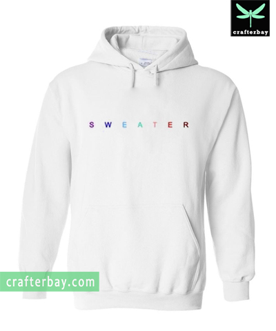 Colourful Sweater Letter Hoodie
