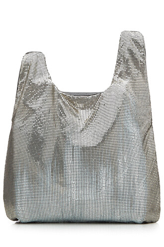 leather silver bag