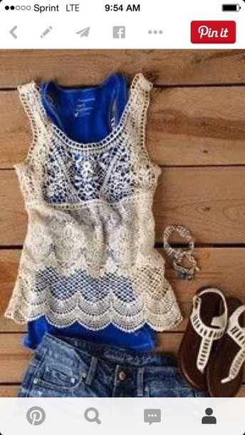 top lace top