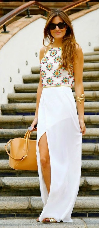 top crop tops embrodering beaded white crop tops multicolor pattern summer outfits summer top