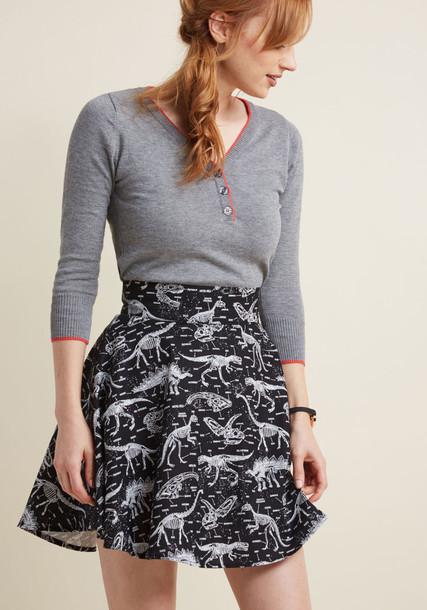 Modcloth skirt dark neutral