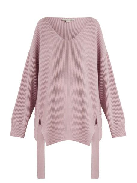 Stella McCartney sweater knit light purple