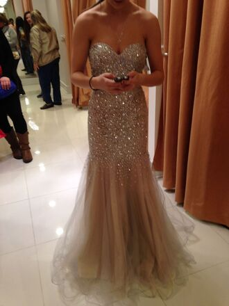 dress sequin dress mermaid prom dresses gold gold sequins form fitting dress beaded dress beaded prom dress long prom dress