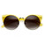 Vintage Inspired Round Circle Cat Eye Sunglasses 8785                           | zeroUV