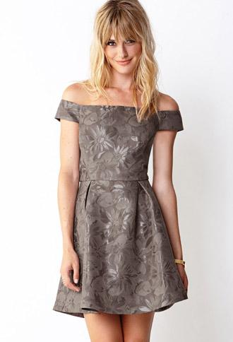 Cold Shoulder Daisy Dress   FOREVER21 - 2000129212