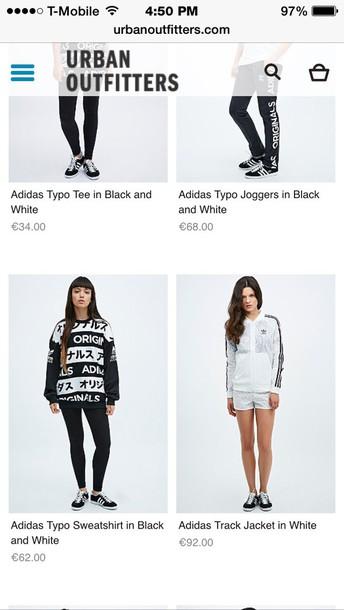 sweater adidas sweater typo