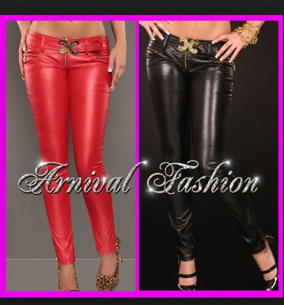 pants red/black