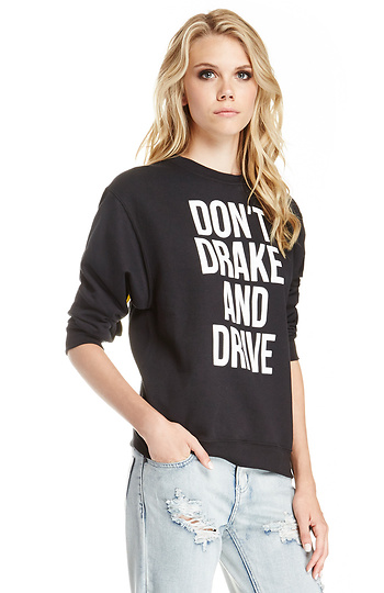 Dailylook: supermuse don't drake and drive sweatshirt in black xs