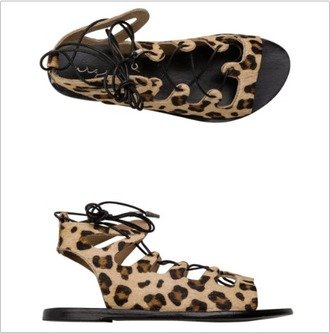 shoes animal print strappy flats flats flat sandals leopard print spring accessory