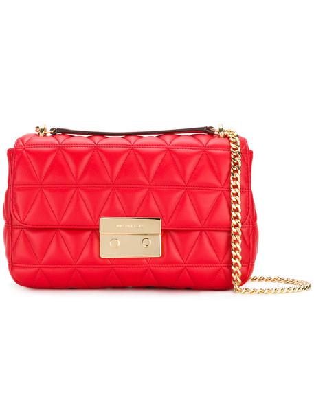 MICHAEL Michael Kors women bag shoulder bag leather red