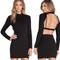 Clarissa open back dress – dream closet couture