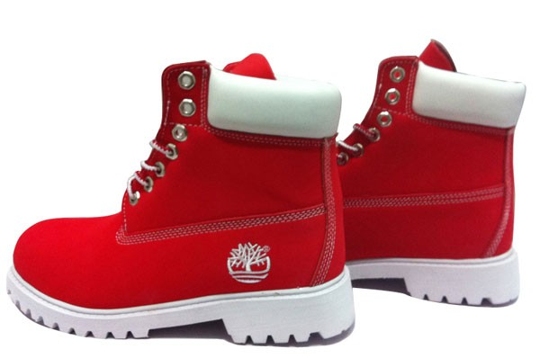 red timberlands boots
