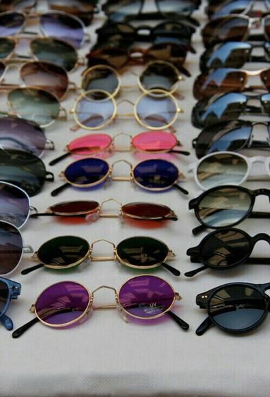 sunglasses round sunglasses colored lenses circular sunglasses