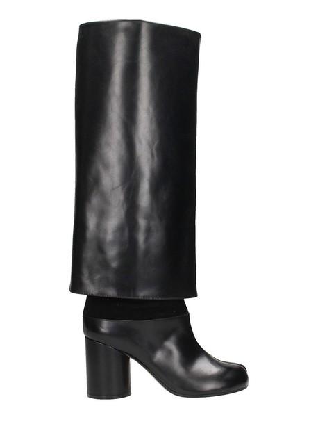 MAISON MARGIELA oversized long black shoes