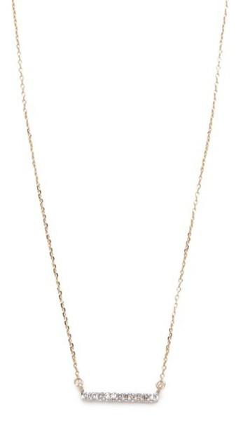 Adina Reyter Pave Bar Necklace - Gold