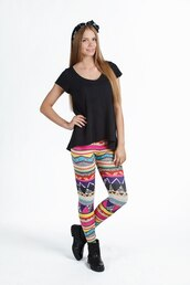 leggings,printed leggings,tribal leggings,ornament,print,all over print leggings,ornament leggings,tribal pattern