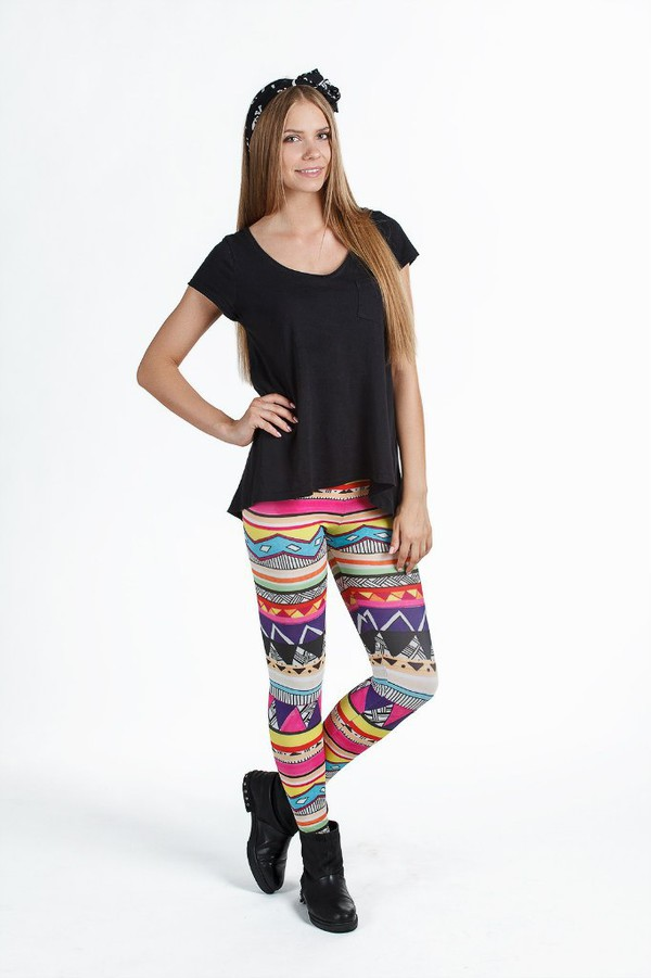 leggings printed leggings tribal leggings ornament print all over print leggings ornament leggings tribal pattern