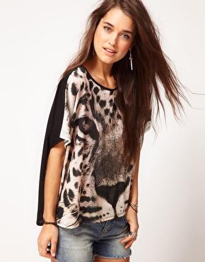 Shirt avec visage d'animal chez asos