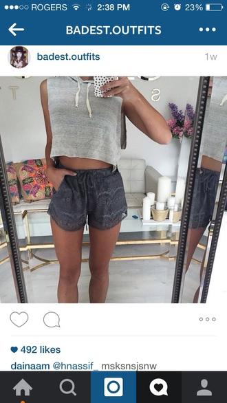 shorts grey loose summer shorts