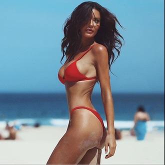 swimwear red bikini