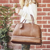 bag,sole society,vegan leather,leather bag,leather,black leather bag,travel bag,brown leather bag,cool travel bag