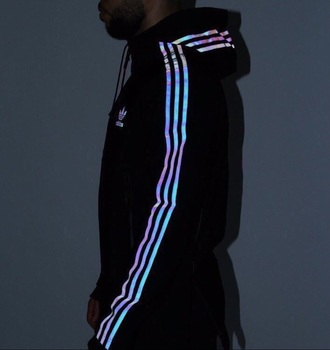 jacket holographic adidas sweater