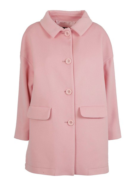 BOUTIQUE MOSCHINO coat back quilted pink