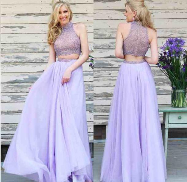dress purple prom dresses two piece dress set prom dress two piece prom dresses two-piece