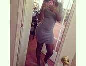 medium sleeve,bodycon dress,grey,medium length