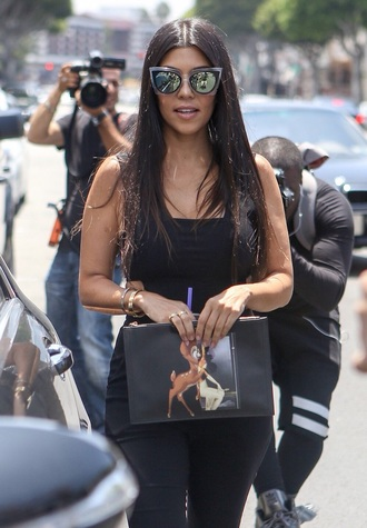 sunglasses kourtney kardashian kardashians mirrored sunglasses fashion