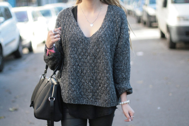 grey sweater sweater