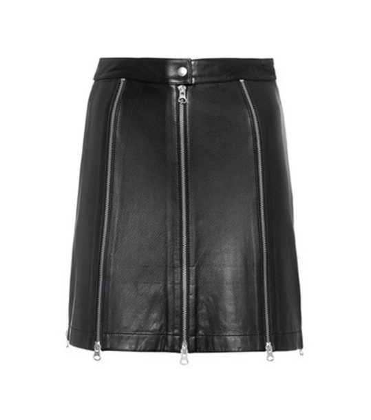 McQ Alexander McQueen miniskirt leather black skirt