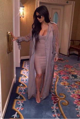 jacket kim kardashian sheer shirt long trench coat classy