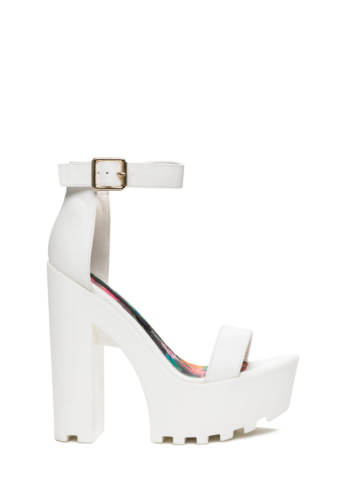 All White Platform Heels - Is Heel