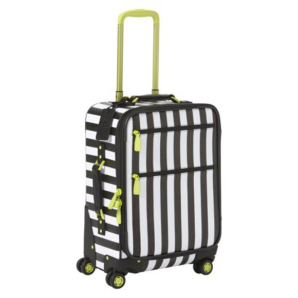 stripes bag striped luggage luggage green