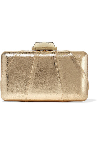 leather clutch metallic clutch leather gold bag