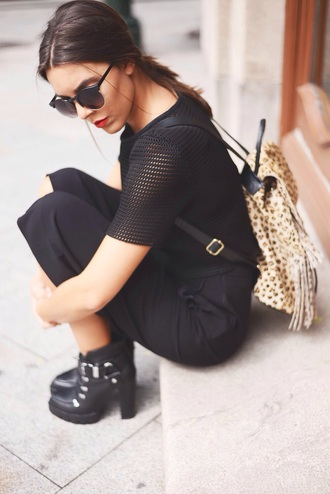 bag backpack leather backpack leopard print fashion accessories brown lookbook