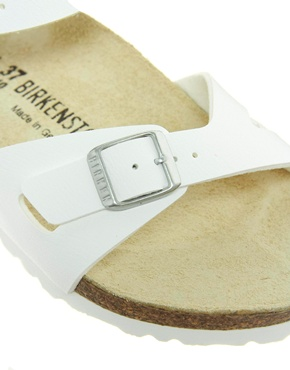 Birkenstock | Birkenstock Rio 2 Strap White Sandals at ASOS
