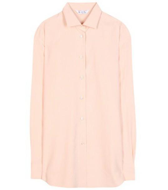 shirt silk purple pink lilac top