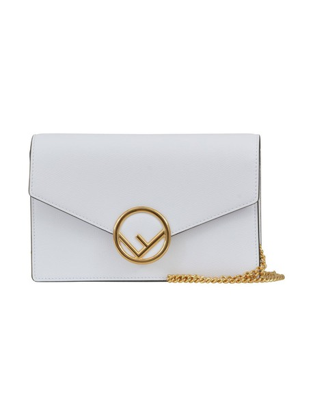 Fendi clutch white bag