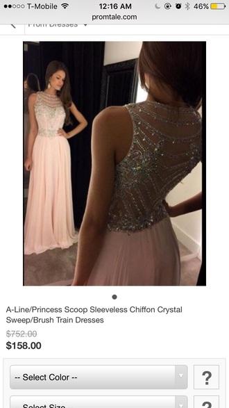 dress illusion diamonds nude dress prom prom dress