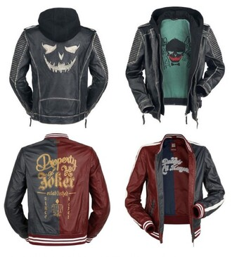 jacket joker harley quinn suicidesquad leather jacket comics jared leto joker and harley suicide squad batman grey jacket bomber jacket