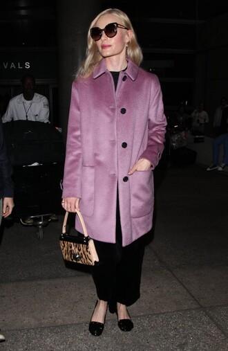 coat fall coat pink pink coat kate bosworth sunglasses