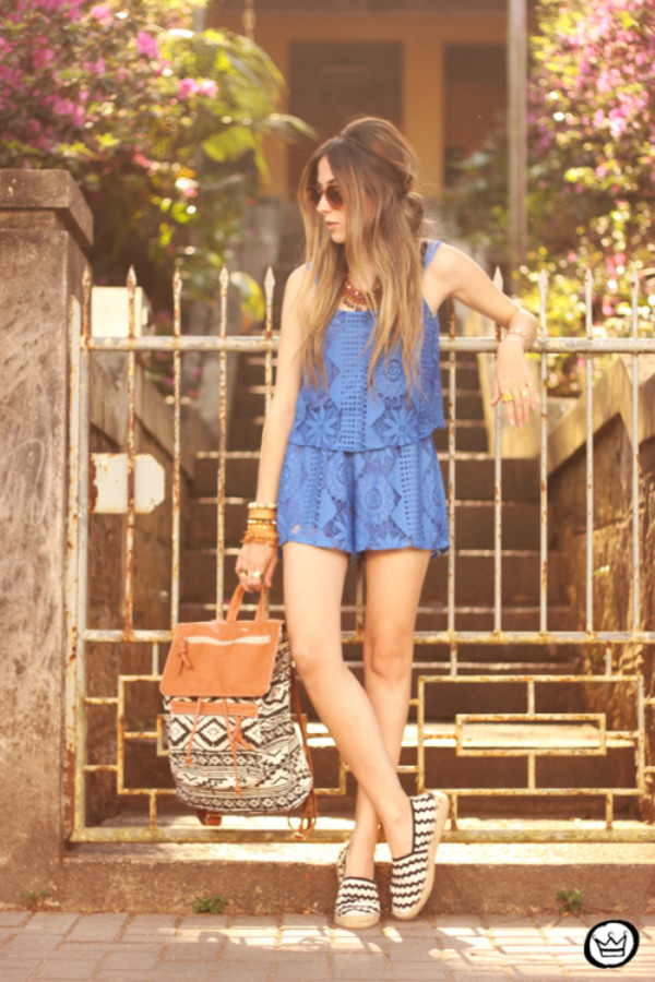 fashion coolture blogger romper jewels sunglasses shoes