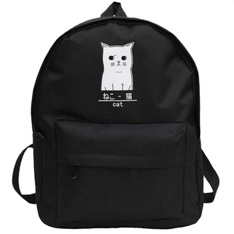 bag black backpack back to school cats black and white cool boogzel