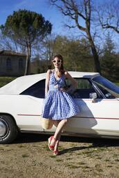 miss pandora,blogger,dress,coat,shoes,straw bag,blue dress,wedges,summer outfits