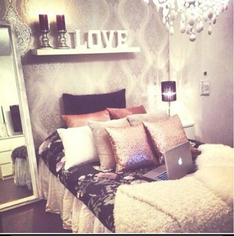 bedding jewels pillow sequins blanket home accessory black silver macbook air love candle bedroom floral comforter purple floral purple lamp throw pillows gold sequin throw pillow coral throw pillow cream throw pillow white throw blanket white bed skirt