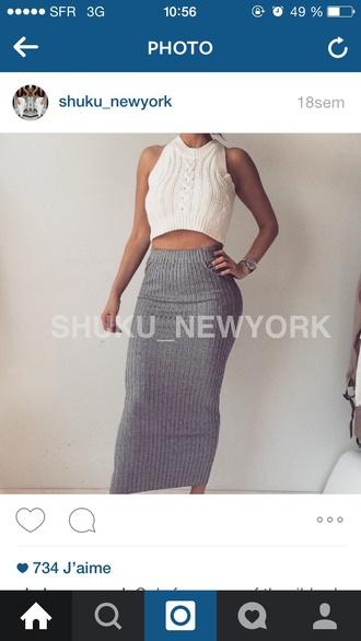 skirt wool skirt grey skirt wool skirt dress
