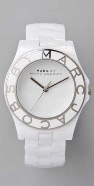 jewels marc jacobs marc jacobs watch marc by marc jacobs watch watch white silver